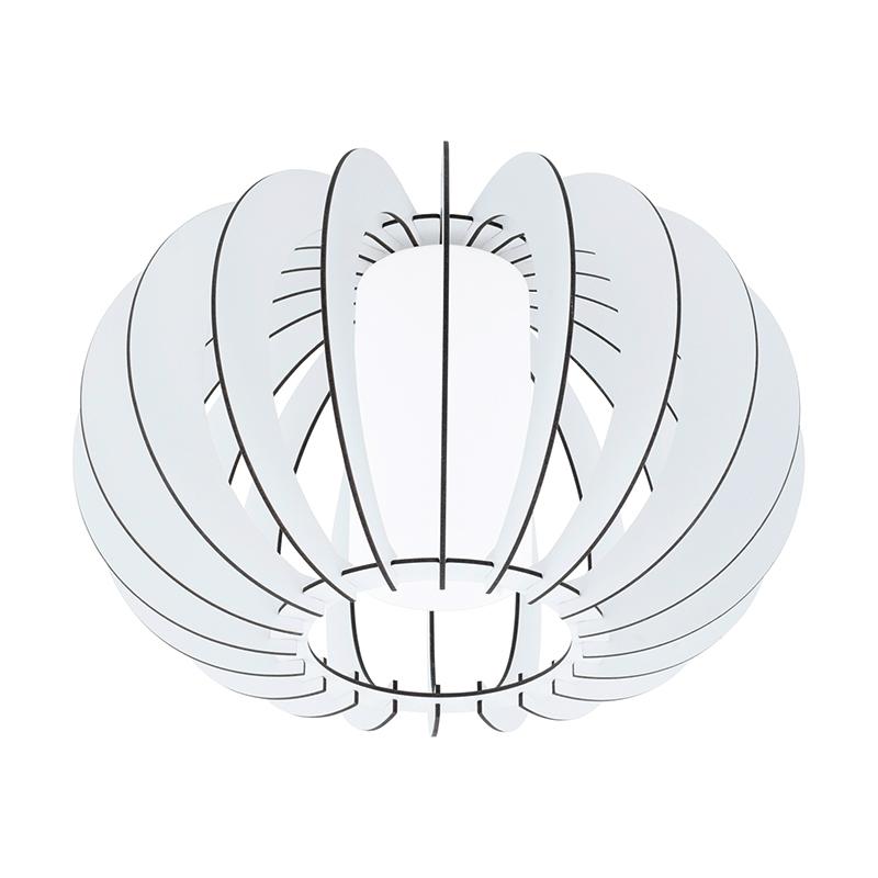 EGLO 95605 Потолочный светильник STELLATO 2, 1X60W (E27), ?400, H275, сталь, белый /дерево, стекло, белый