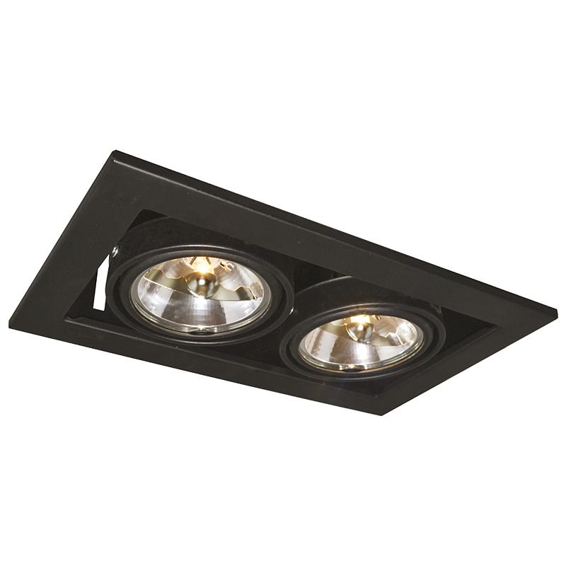 Arte Lamp A5930PL-2BK Встраиваемый светильник неповоротный TECHNIKA 2x50W G53 черный