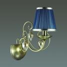 ODEON LIGHT 3921/1W ODL18 357 бронза/ткань/стекло Бра IP20 E14 40W 220V NIAGARA