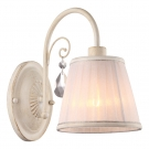 Arte Lamp A9515AP-1WG Бра ALEXIA 1x40W E14 бело-золотой / белый