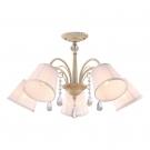 Arte Lamp A9515PL-5WG Люстра потолочная ALEXIA 5x40W E14 бело-золотой / белый