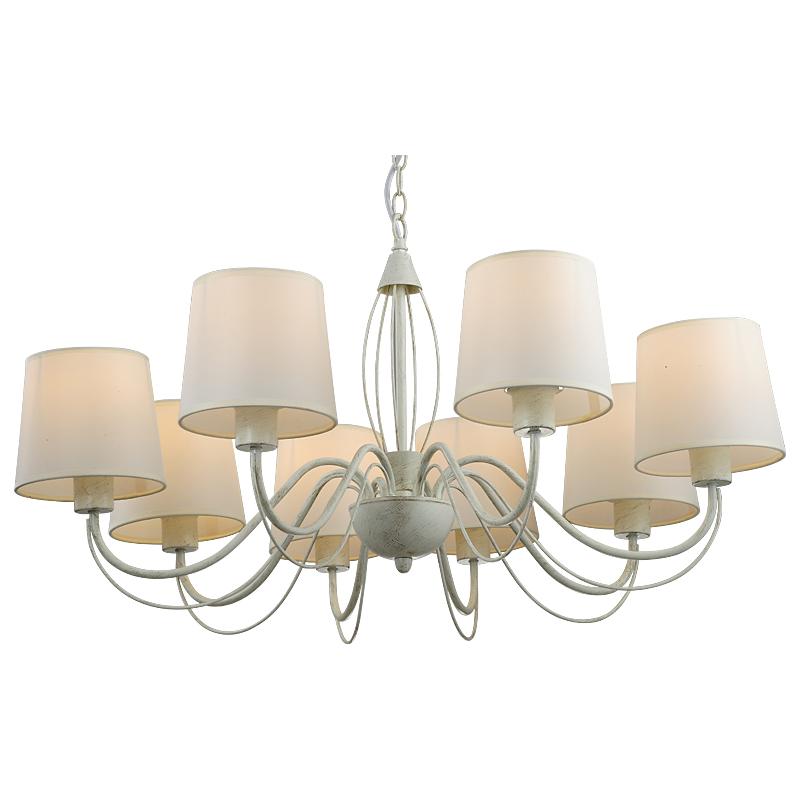 Arte Lamp A9310LM-8WG Люстра  ORLEAN 8x40W E27 бело-золотой
