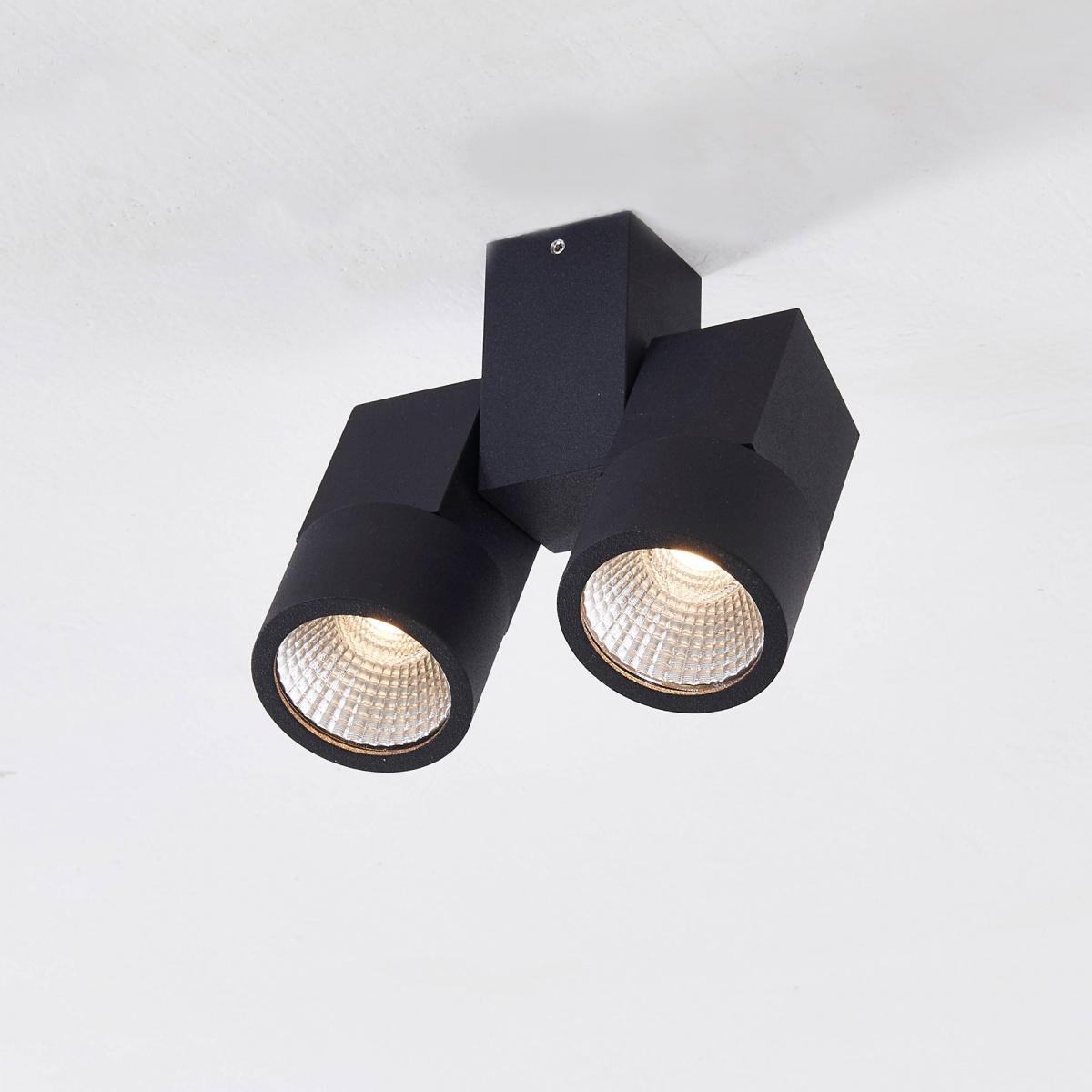 CITILUX CL556102 Накладной светильник ДУБЛЬ 2x5W LED черный