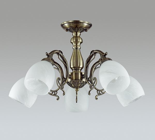 LUMION 3092/5 люстра потолочная NINELLA 5x40W E14 бронзовый/стекло