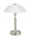 Eglo 85104 настольная лампа  SOLO 1x60W никель IP20