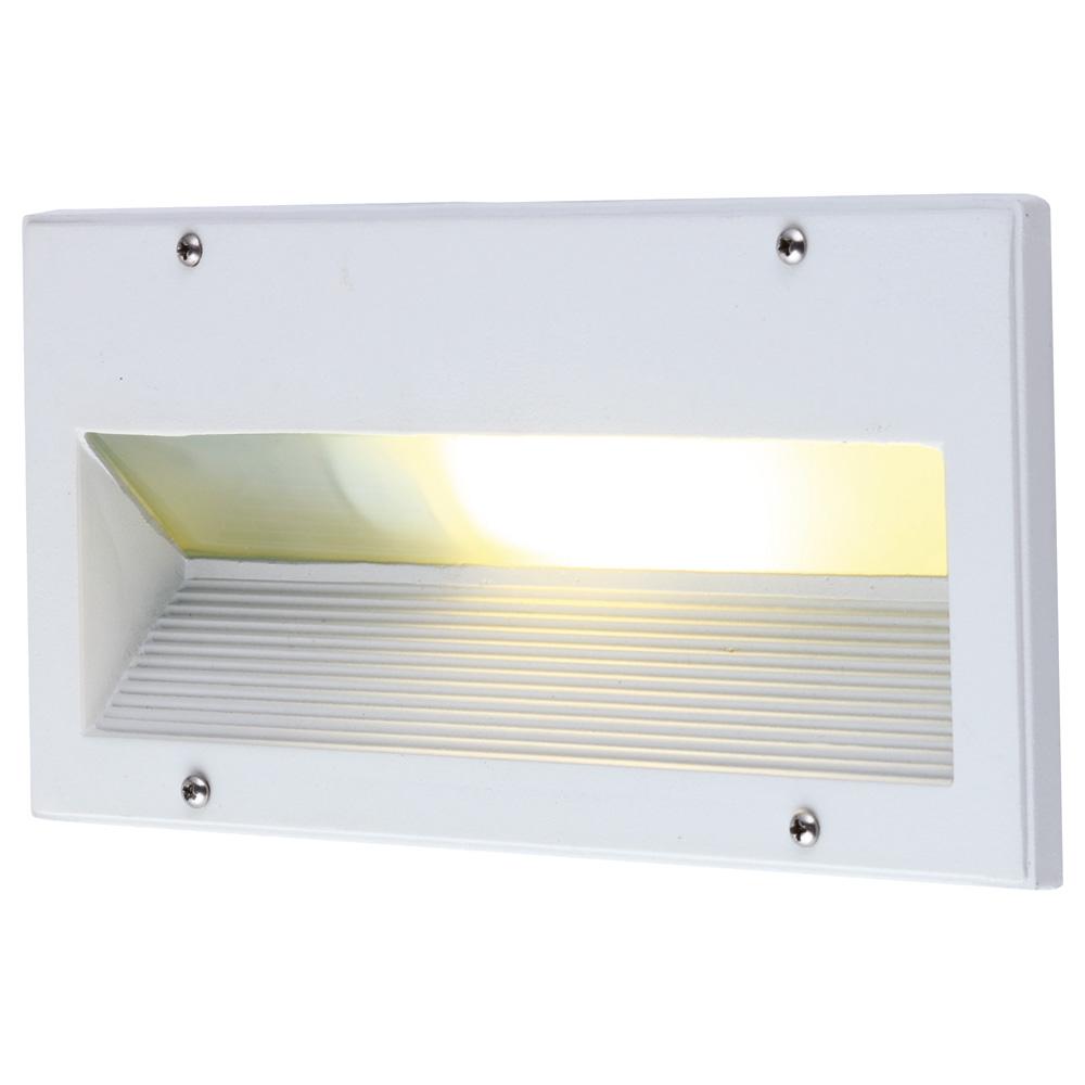 Arte Lamp A5158IN-1WH уличный встраиваемый светильник BRICK 1x60W E27 белый IP54 для стен и ступеней