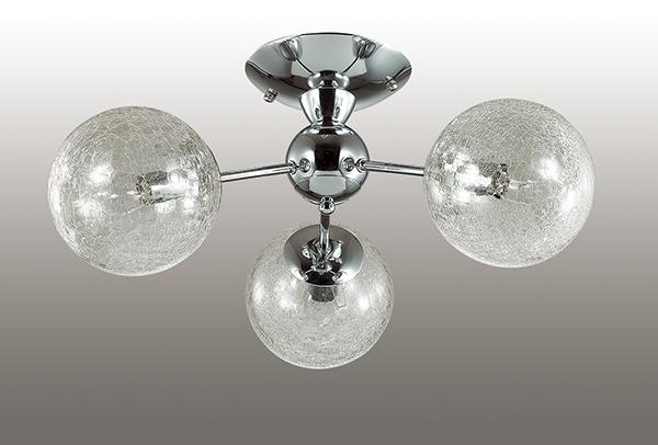 LUMION 3060/3C люстра потолочная PALLA 3x40W E14 хром/стекло