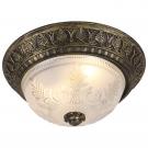 Arte Lamp A8005PL-2BN Потолочный светильник PIATTI 2x40W E27 черно-золотой / полупрозрачный