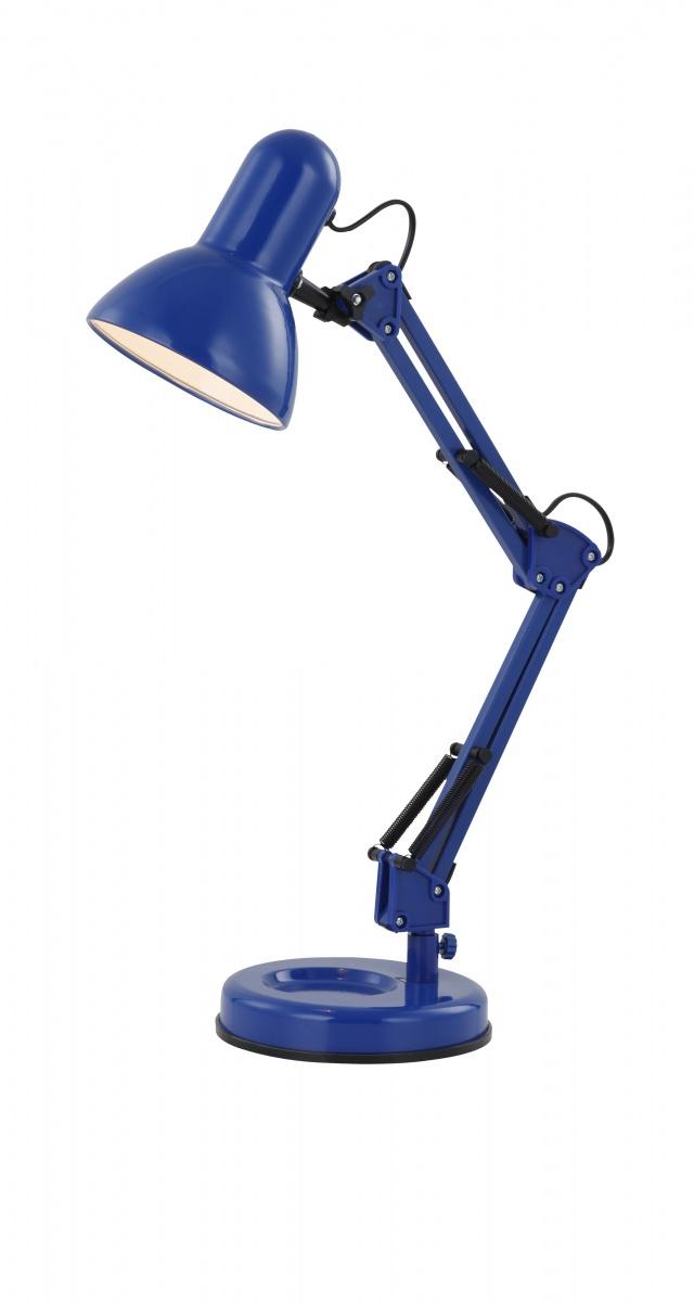 Globo 24883 Настольная лампа FAMOUS 1x40W E27 синий