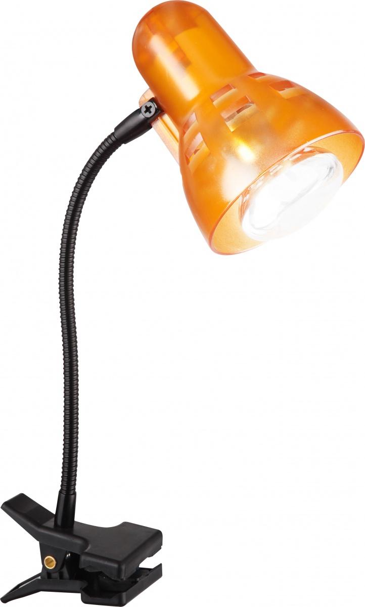 Globo 54852 Настольная лампа CLIP 1x40W E27 оранжевый