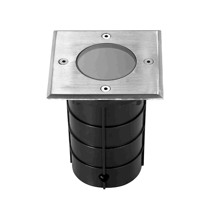 NOVOTECH 369952 Встраиваемый светильник тротуарный 1x50W GU10 IP67 сталь / матовый