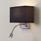 CITILUX CL704301 Настенный светильник ДЕКАРТ 2x60W E14 Хром матовый / Черный
