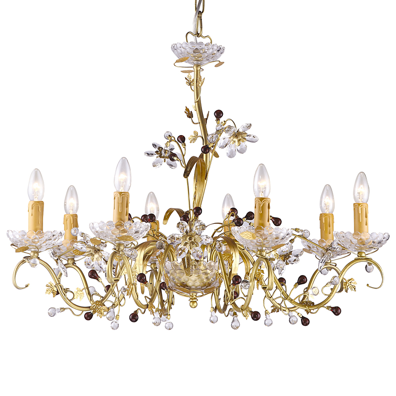 Arte Lamp A8933LM-8SG Люстра PALAZZO 8x40W Е14 матовое золото