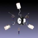 Odeon Light 1347/3W Бра FABU 3x20W G4 хром/прозрачный